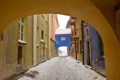 Alte Stadt im Winter, Warschau, Polen Lizenzfreie Stockfotos