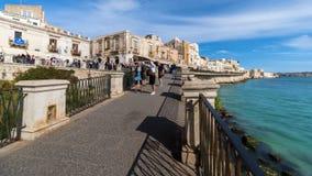 Alte Stadt Italiens, Sizilien, Syrakus, Kathedralen-Hauptplatz stock video