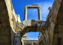 Alte Stadt Izmir-Agoras lizenzfreies stockbild