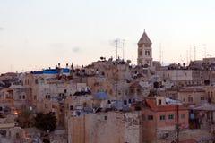 Alte Stadt Jerusalems nachts, Israel Stockfoto