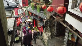 Alte Stadt Jiufen in Taipeh, Taiwan stock footage