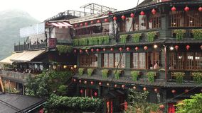 Alte Stadt Jiufen in Taipeh, Taiwan stock video footage