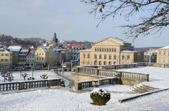 Alte Stadt Kammgarn-stoff der Ansicht Stockfotografie