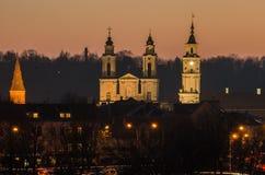 Alte Stadt Kaunas (Litauen) Lizenzfreies Stockfoto