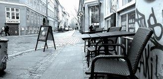Alte Stadt Kopenhagens Kann sich am Tisch entspannen lizenzfreie abbildung