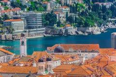 Alte Stadt in Kroatien, Dubrovnik-Stadtbild Lizenzfreie Stockbilder