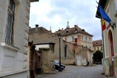 Alte Stadt Landschaft in der mittelalterlichen Stadt Sighisoara Lizenzfreie Stockbilder