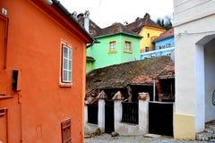 Alte Stadt Landschaft in der mittelalterlichen Stadt Sighisoara Stockfoto
