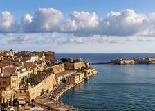 Alte Stadt Lavallettas in Malta Lizenzfreies Stockfoto