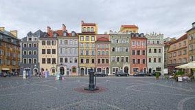 Alte Stadt Market Place von Warschau, Polen Stockbild