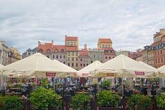 Alte Stadt Market Place von Warschau, Polen Lizenzfreie Stockfotos