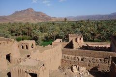 Alte Stadt in Marokko, typische marokkanische Architektur Stockbilder
