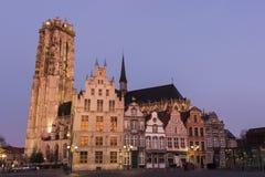 Alte Stadt in Mechelen in Belgien Lizenzfreie Stockfotos