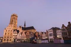 Alte Stadt in Mechelen in Belgien Lizenzfreie Stockfotografie