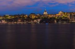 Alte Stadt mit Dämmerungszeit Ansicht Stockfotos
