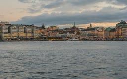 Alte Stadt mit Dämmerungszeit Ansicht Lizenzfreie Stockfotografie