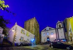 Alte Stadt, mit Weihnachtsdekorationen, Obidos Stockfotografie