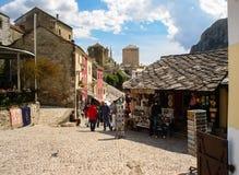 Alte Stadt Mostars, Bosnien und Herzegowina Stockbild