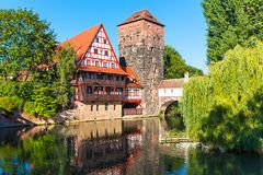 Alte Stadt in Nürnberg, Deutschland lizenzfreie stockbilder