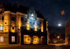 Alte Stadt nachts Lizenzfreies Stockfoto