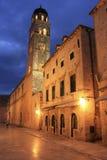 Alte Stadt nachts, Dubrovnik Lizenzfreie Stockfotos