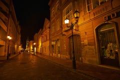 Alte Stadt nachts - GyÅ-` r Lizenzfreies Stockfoto