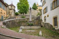 Alte Stadt Neuchatel Lizenzfreies Stockbild