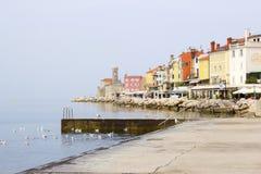 Alte Stadt Piran - schöne Sloweneadria-Küste Lizenzfreies Stockfoto