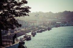 Alte Stadt Porto, Portugal auf dem Duero-Fluss Lizenzfreies Stockfoto