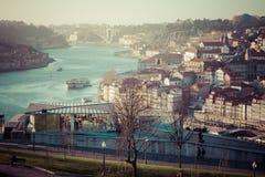 Alte Stadt Porto, Portugal auf dem Duero-Fluss Stockfoto