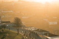 Alte Stadt Porto, Portugal auf dem Duero-Fluss Stockbilder