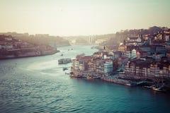 Alte Stadt Porto, Portugal auf dem Duero-Fluss Lizenzfreie Stockbilder