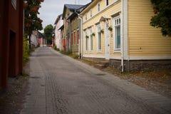 Alte Stadt - Porvoo, Finnland stockfotografie