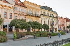 Alte Stadt in Presov, Slowakei Stockbilder
