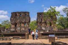 Alte Stadt Royal Palace Sri Lanka Polonnaruwa Stockbilder