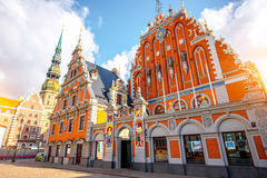 Alte Stadt-` s Mitte in Riga lizenzfreie stockbilder