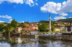 stadtbild von sarajevo bosnien und herzegowina stockfoto bild 42913948. Black Bedroom Furniture Sets. Home Design Ideas