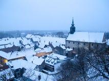 Alte Stadt in Serbien stockfotos