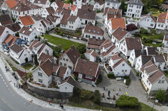 Alte Stadt Stavenger Stockfoto