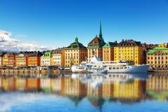 Alte Stadt in Stockholm, Schweden Lizenzfreie Stockfotos