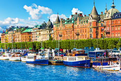 Alte Stadt in Stockholm, Schweden Stockfotos