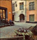 Alte Stadt Stockholm Schwedens lizenzfreie stockbilder