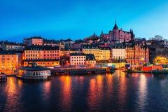 Alte Stadt Stockholms Lizenzfreies Stockbild