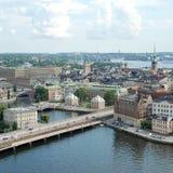 Alte Stadt Stockholms in Schweden Lizenzfreie Stockbilder