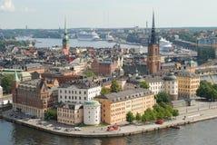 Alte Stadt Stockholms in Schweden Stockbild