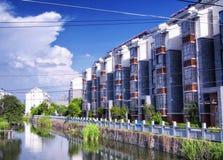 Alte Stadt-Suzhous China Luzhi Wohnungen stockfotos