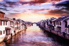 Alte Stadt Suzhous Tongli Stockfotografie