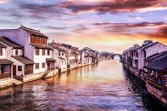 Alte Stadt Suzhous Tongli Lizenzfreies Stockbild
