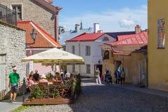 Alte Stadt in Tallinn Stockbild