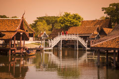 ALTE STADT THAILANDS BANGKOK SAMUT PRAKAN Stockfotografie